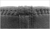マウザーステッチ+特殊4本針による頑丈な縫製 イメージ